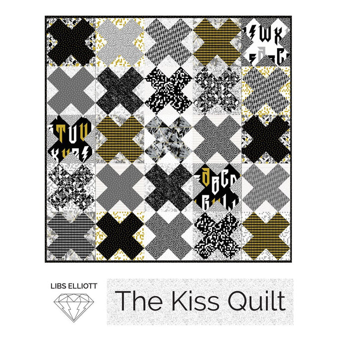 Paper Pieces - The Kiss Quilt Pattern by Libs Elliott