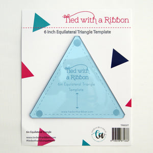 "Tied With a Ribbon - 6"" Equilateral Triangle Ruler"