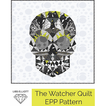 Load image into Gallery viewer, Paper Pieces - The Watcher Skull EPP Kit - Pattern and papers
