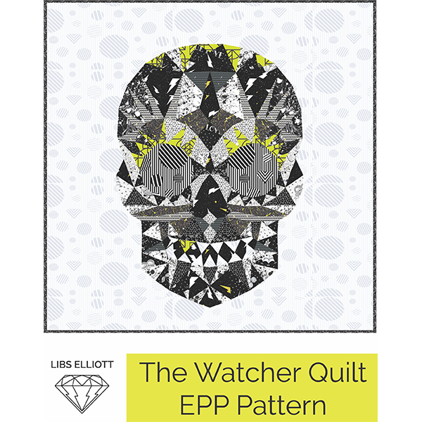 Paper Pieces - The Watcher Skull EPP Kit - Pattern and papers