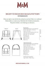 Load image into Gallery viewer, Merchant and Mills- Right to Roam Bag Paper Pattern