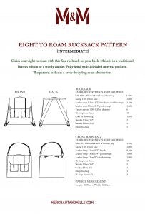 Merchant and Mills- Right to Roam Bag Paper Pattern