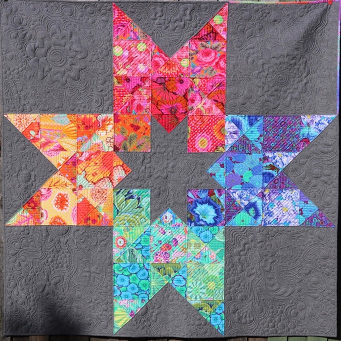 In 2 Stars - by Freebird Quilting Designs