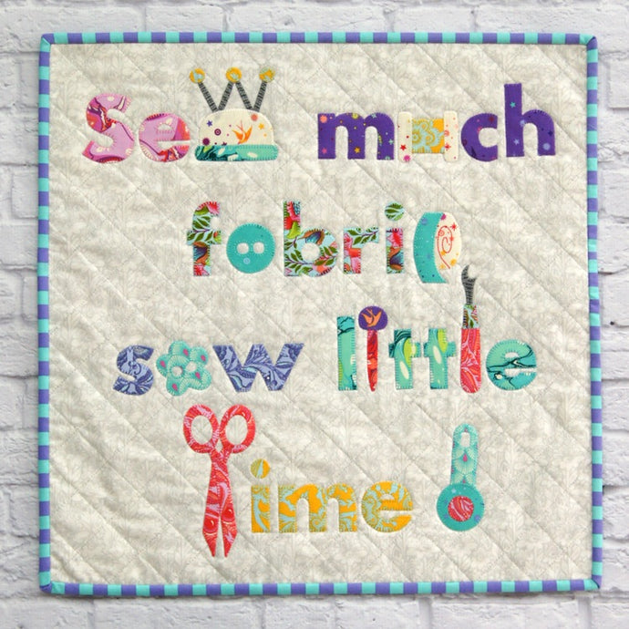 Sew Much Fabric Mini Quilt Paper Pattern