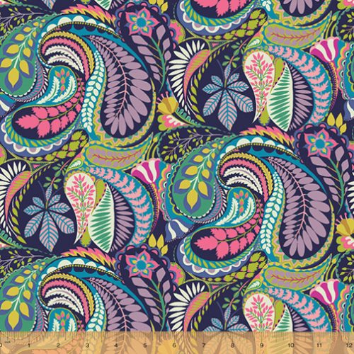 Canvas - Solstice by Sally Kelly for Windham Fabrics - Paisley
