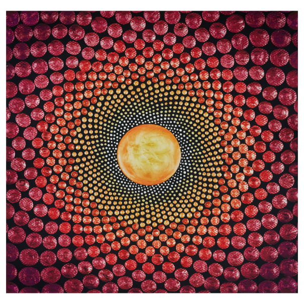 Mindful Mandalas Panel - Fuschia