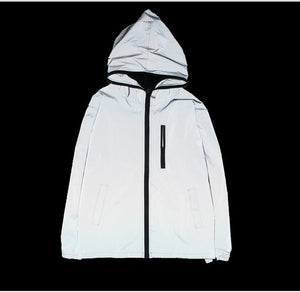 Reflective waterproof windbreaker
