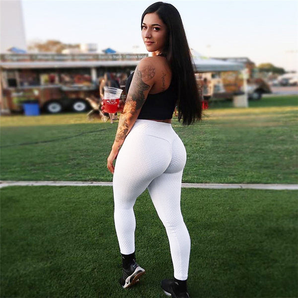 Ruching push up leggings for fitness clothing 2018 bodybuilding sexy legging sportswear athleisure black women's pants