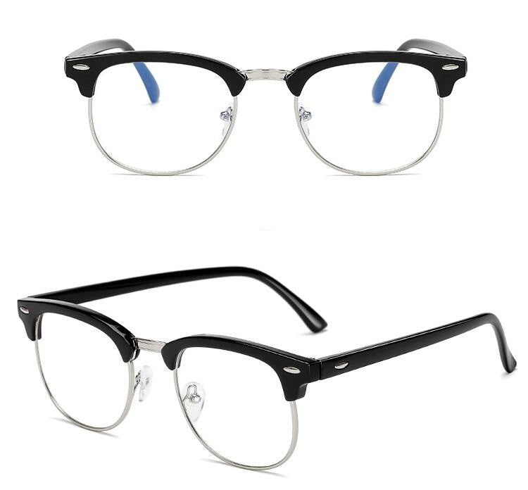 Computer Glasses Anti Blue Ray Glasses Anti Blue Light Eyeglasses Optical Eye Spectacle UV Blocking Gaming Filter Eyewear Rivet