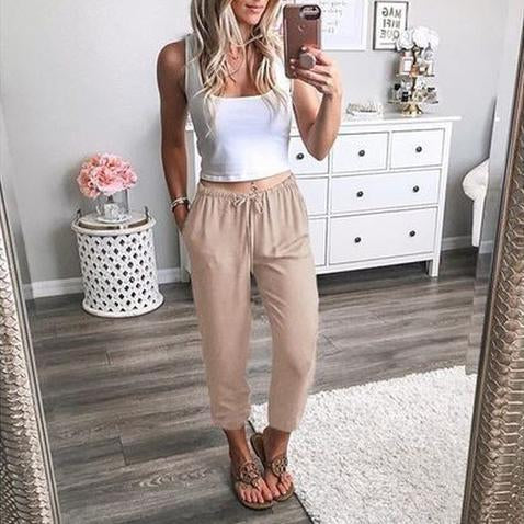 Casual Loose Thin Harem Pants Nine Trousers Pants