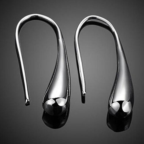 Silver Drop Designed Earrings