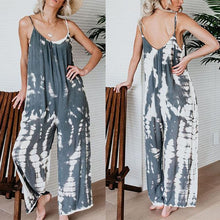 Load image into Gallery viewer, Spaghetti Strap  Backless  Printed  Sleeveless Jumpsuits