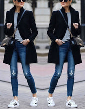 Load image into Gallery viewer, Autumn and winter   fashion pure color warm coat