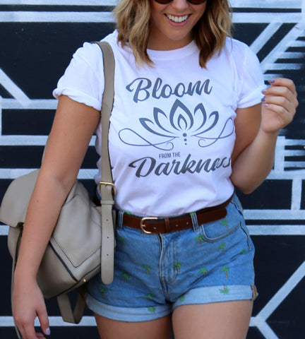 Bloom From The Darkness Original Tee (White)