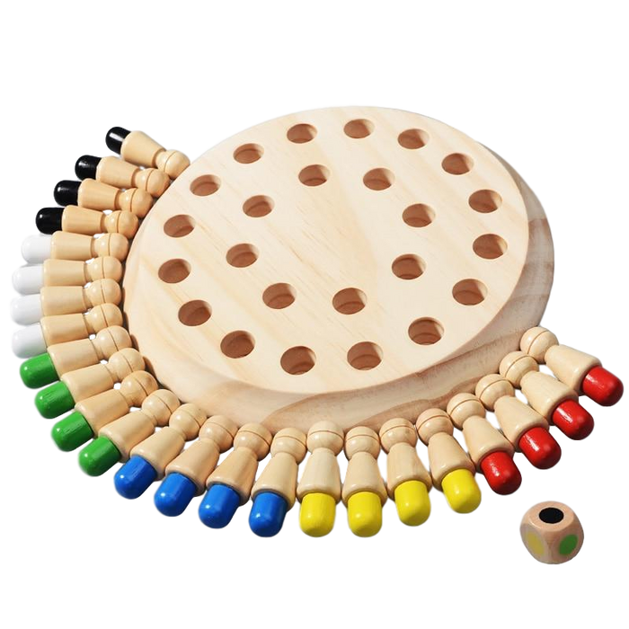 Wooden Memory Chess Game - Basply
