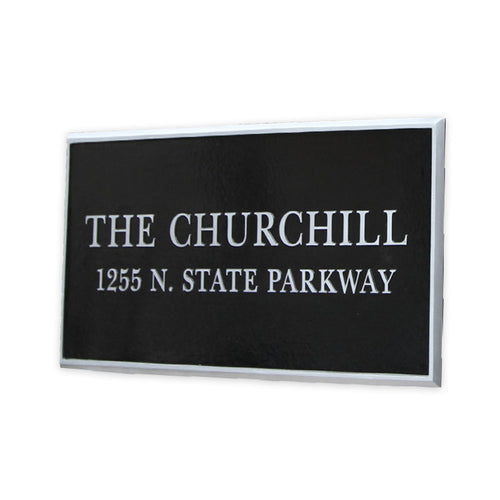 Cast Aluminum Building Plaque