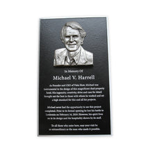 Load image into Gallery viewer, Cast Aluminum Plaque with Bas Relief Photo