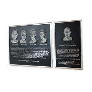 Cast Aluminum Plaque with Bas Relief Photo