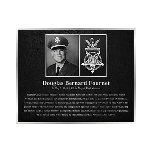 Cast Aluminum Plaque with Etched Photo