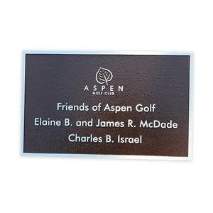 Cast Aluminum Park Bench Plaque
