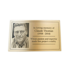 Brass Plaque with Etched Photo