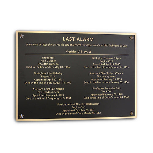 Cast Bronze Memorial Plaque