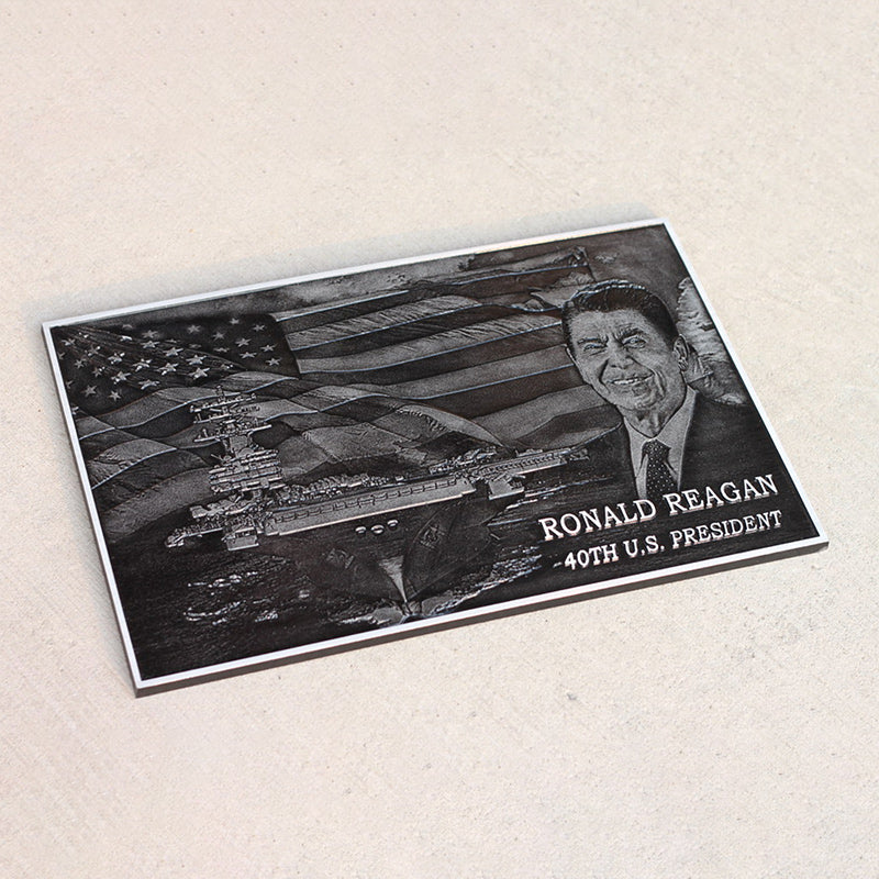 Cast Aluminum Plaque with Photo Relief