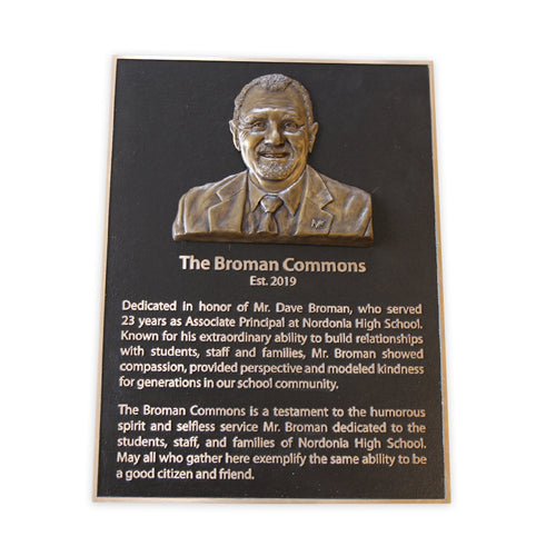 Cast Bronze Dedication Plaque