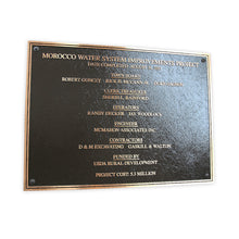Load image into Gallery viewer, Cast Bronze Dedication Plaque