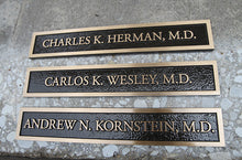 Load image into Gallery viewer, Cast Bronze Doctor Plaque