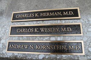 Cast Bronze Doctor Plaque
