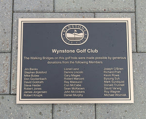 Cast Bronze Donor Plaque