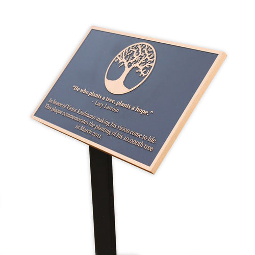 Cast Bronze Garden Plaque with Stake