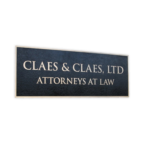 Cast Bronze Law Firm Plaque
