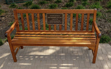 Load image into Gallery viewer, Cast Bronze Park Bench Plaque