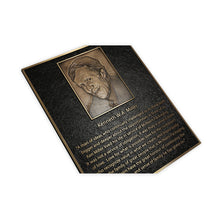 Load image into Gallery viewer, Cast Bronze Plaque with Photo Relief