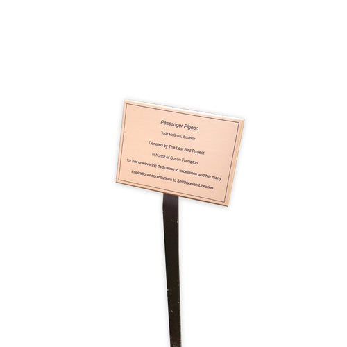 Etched Bronze Garden Plaque with Stake