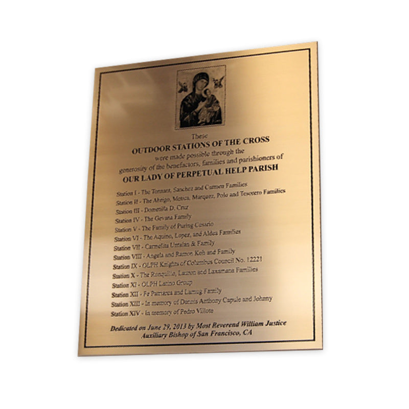Etched Bronze Donor Plaque