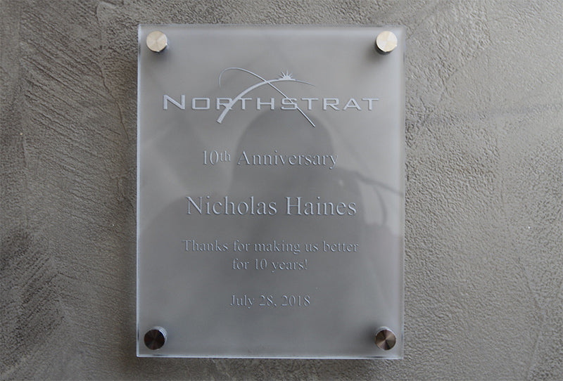 Etched Glass Award Plaque
