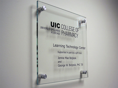 Etched Glass Donor Plaque