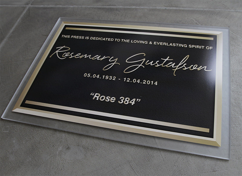 Frosted Acrylic Memorial Plaque