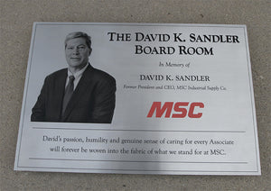 Stainless Steel Plaque with Etched Photo