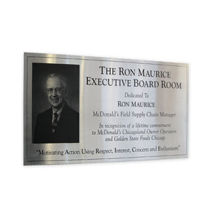 Stainless Steel Dedication Plaque