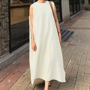 Casual Solid Sleeveless Dress