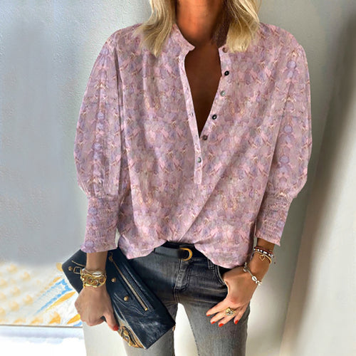 Casual Printed Long Sleeve Single Breasted Shirt