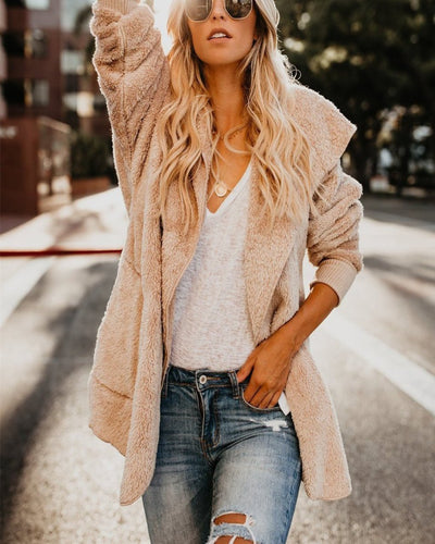 Long-Sleeved Cardigan Pocket Warm Jacket