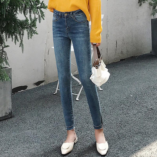 Fashion Slim Show   Thin  Elastic Skinny Jeans Pencil   Pants