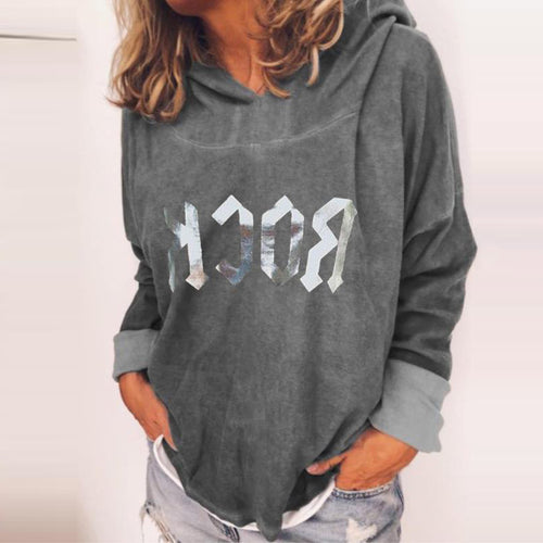Modern Round Neck Printed Colour Sweatshirt