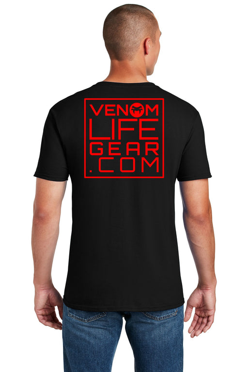 Men's black scorpion t-shirt, black and red, venom shirt, arachnid t-shirt, black and red shirt