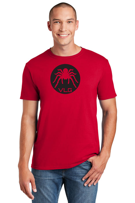 Men's black tarantula spider t-shirt, black and red, venom shirt, arachnid t-shirt, red and black t-shirt